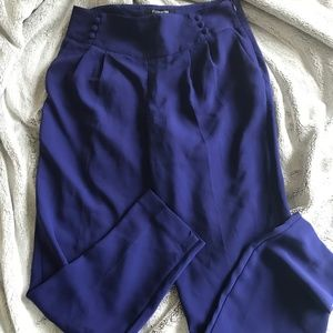 F21 Indigo High Waisted Trousers